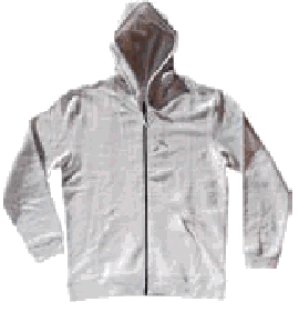 Hooded regular (280-300 GSM) with zip and pocket  jacket