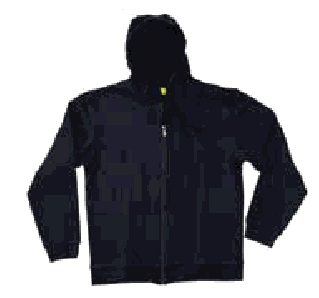 Hooded regular (280-300 GSM) with zip and no pocket  jacket