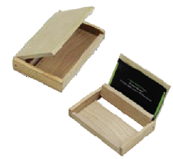 WHITE WOOD VISITING CARD HOLDER