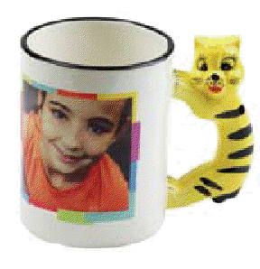 ANIMAL HANDLE SUBLIMATION MUG